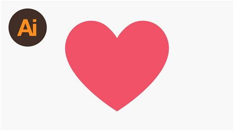 draw heart illustrator learn how to draw the facebook heart emoji in adobe