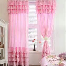pink drapes great ruffle pink curtain my baby nursery