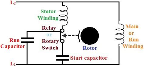 capacitor run motor diagram ac motor start capacitor wiring diagram thqmotor run wiring diagram alexiustoday
