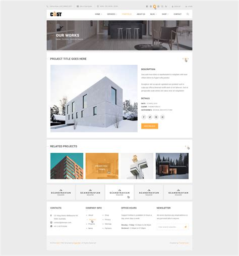 Cast A Construction Business Psd Template By Bigpsfan Themeforest Construction Portfolio Template
