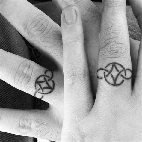Wedding Band Tattoos by 76 Of The Most Inventive Wedding Band Designs