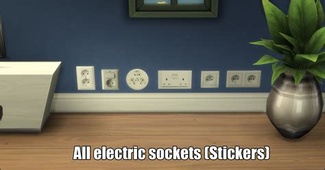 Wall Sticker Outlet mod the sims electric sockets wall stickers standalone