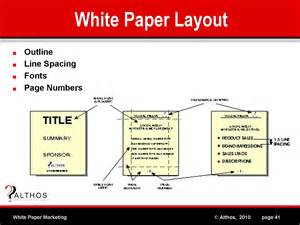 What Makes A White Paper - white paper marketing white paper layout