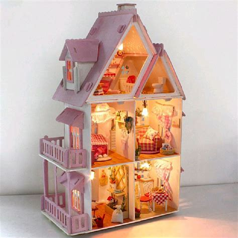 dolls house lighting kit diy handcraft miniature project kit wooden dolls house my pink little house ebay