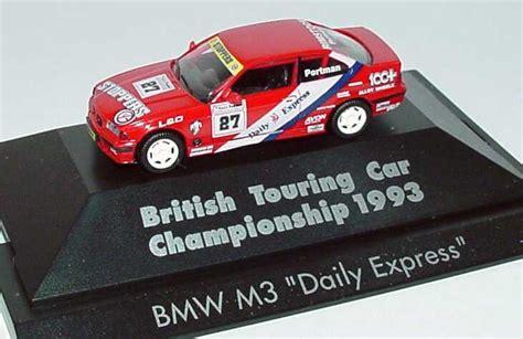 Herpa Bmw 3er Coupe Lautner Motorsport Gewinner Gt Cup 1996 1 87 bmw m3 coup 233 e36 btcc 1993 daily express nr 27 portman herpa 035903