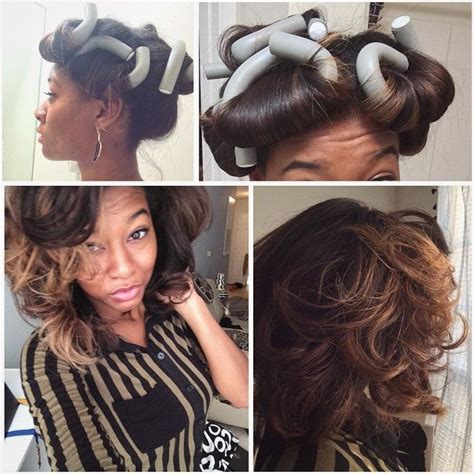 black hair with jumbo flexi rods video flexi rod tutorial on transitioning or relaxed hair