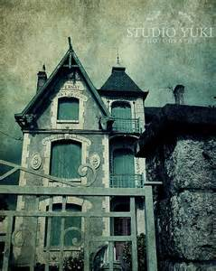 Haunted Mansion Home Decor Haunted House Photo Halloween Decor Goth Wall Art Fantasy