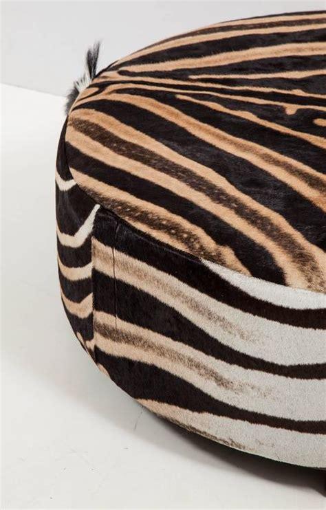 zebra ottomans ottoman zebra at 1stdibs