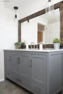 Farmhouse Style Bathroom Vanity by Industrial Farmhouse Bathroom Reveal Cherished Bliss