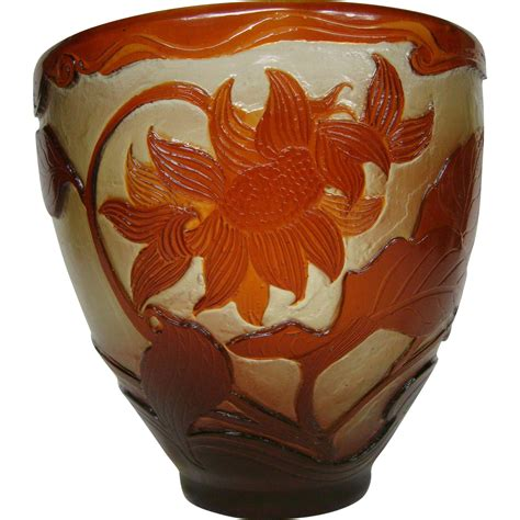 emile galle vase emile galle wheel carved polished cameo glass