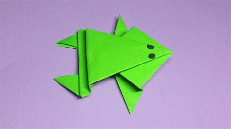 Simple Frog Origami - origami frog easy image collections craft decoration ideas