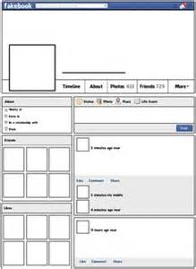 Fakebook Template Docs by Fakebook Create Your Own Profile