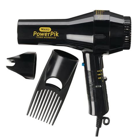 Hair Dryer Pik Attachment Uk wahl powerpik 1250w turbo hairdryer with afro comb pik
