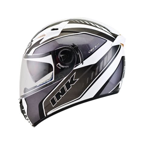 Helm Ink Size M jual helm ink cbr 600 white gun metal