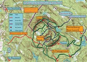 Pawtuckaway State Park Map by Pawtuckaway South Mountain Hiking Around New England
