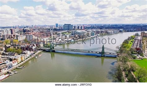 thames clipper hammersmith city of london aerial thames stock photos city of london