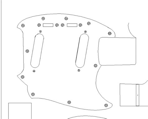 fender 64 mustang routing template vinyl guitar making
