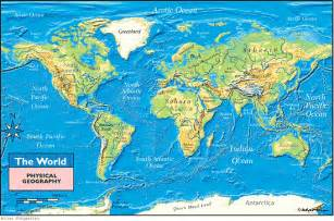 physical map of rivers world physical geography map by maps from maps