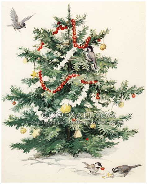 bird s christmas tree