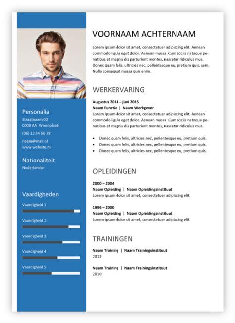 Curriculum Vitae Sjabloon Gratis Cv Maken Cvs
