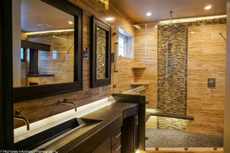 Showers Over Baths modern spa like master bath makover contemporary