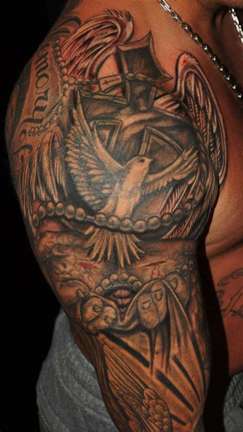 religious half sleeve tattoo designs for men 30 christian tattoos on sleeve