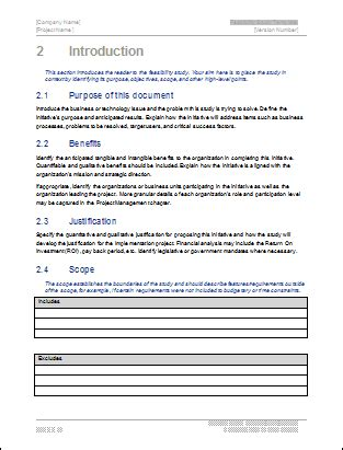 Viability Report Template