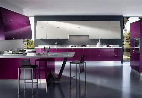 Best Contemporary Kitchen Design Purple Kitchen Grey Modern Design Kitchens