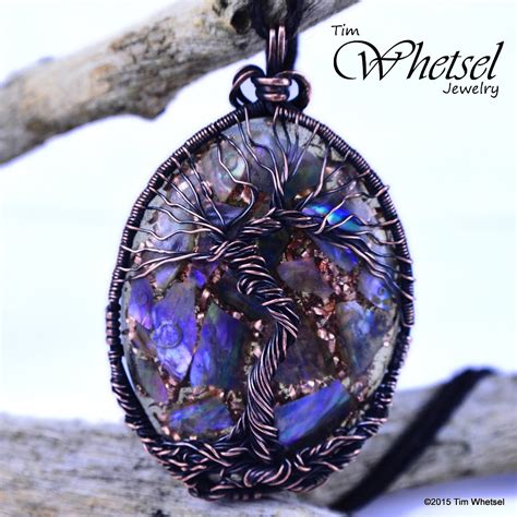 Infinity Pendant Orgonite tree of orgonite pendant of pearl handmade wire wrap 183 wire wrapped jewelry by