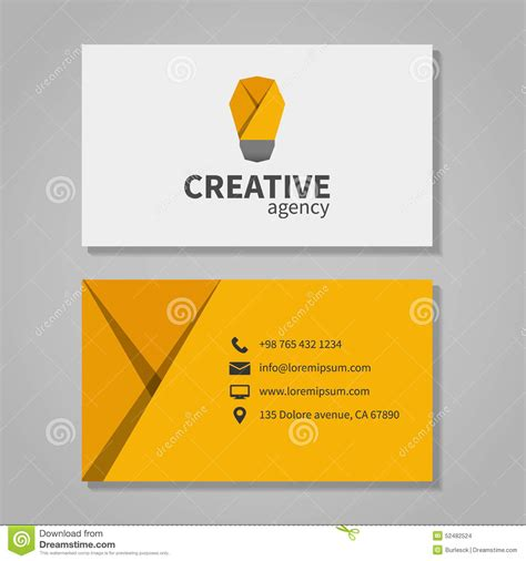 Template Business Card New Address by Creative Agensy Business Card Template With Light Stock