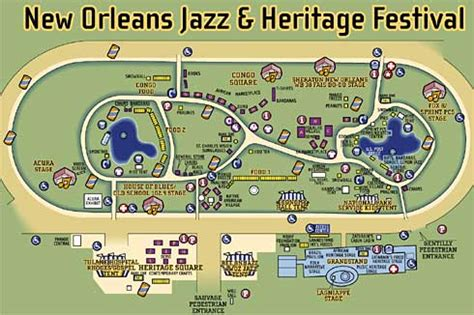 map new orleans jazz official jazzfest map