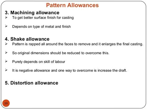 negative pattern allowances introduction to casting