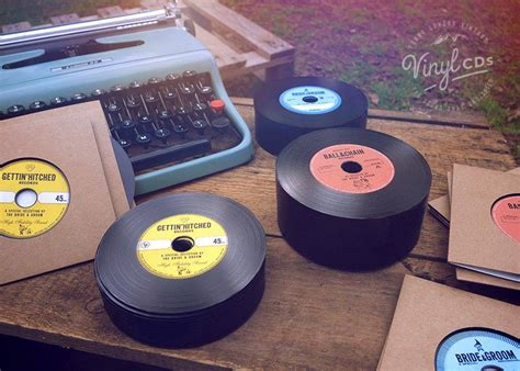 Wedding Invitation Template Cds by Vintage Vinyl Record Cd S Unique Wedding Invites Favors