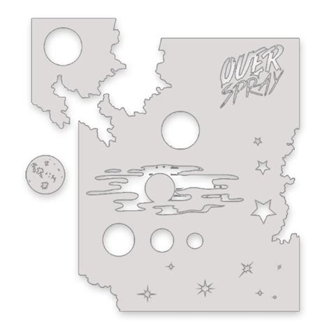 kits with stencils reusable galaxy stencil kit overspray