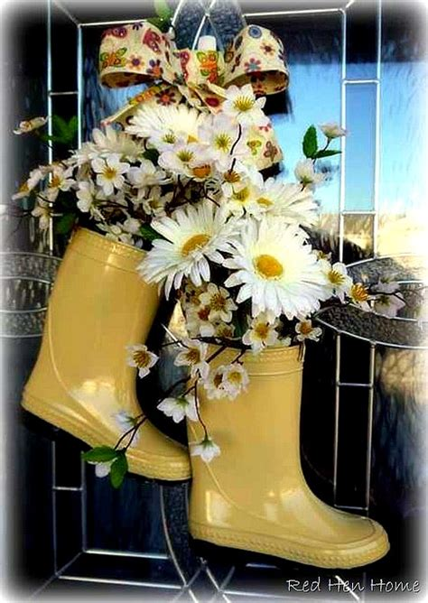 themes for cute or boot adorable rain boot planter ideas a cultivated nest