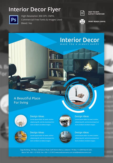 17 Interior Decoration Brochure Free Word Psd Pdf Eps Indesign Format Download Free Interior Design Flyer Template