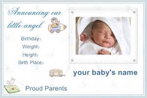 free baby birth announcement templates free photo templates baby birth announcement