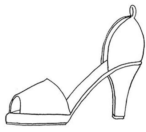 high heel shoe design template high heel paper shoe template gabarit