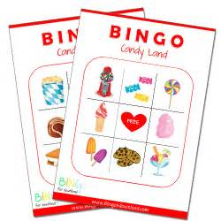 Bingo for download party printables candyland bingo