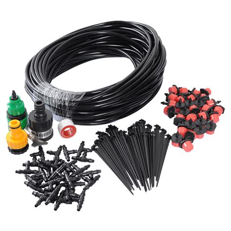 25m diy micro drip irrigation system plant self watering