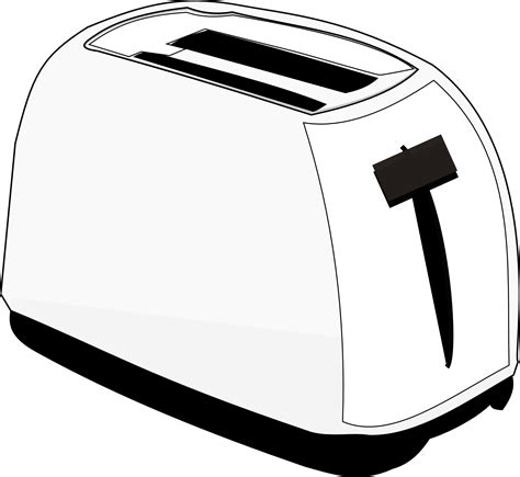 Black And White Toaster 187 Food Toaster Toaster Black White Line Scalable