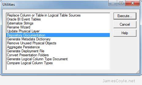 Oracle 11g Documentation obiee jamescoyle net limited