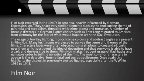 common themes in film noir german expressionism and film noir