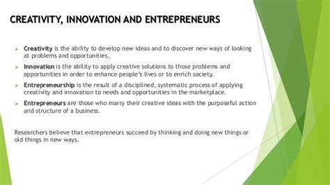 creativity and innovation creativity and innovation in entrepreneurship