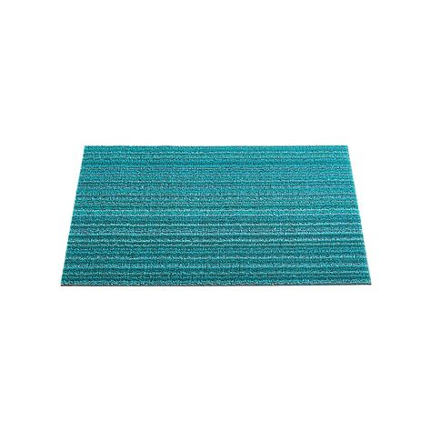 Chilewich Doormat by Chilewich Turquoise Stripe Doormat The Container