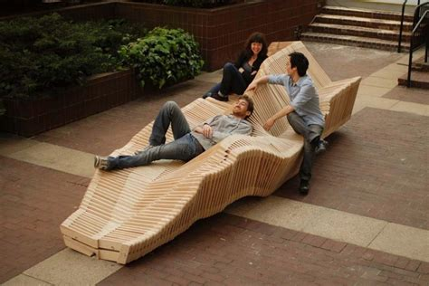unusual benches unique bench that can transformed with kinetic installation home building