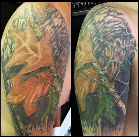 realtree camo tattoo outlaw tattoos half sleeve mossy oak