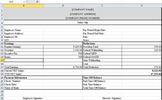 excel payslip template payslip template in excel