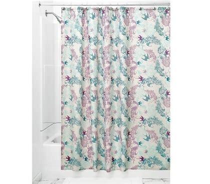 dorm shower curtain josie fabric shower curtain mint lavender college supplies