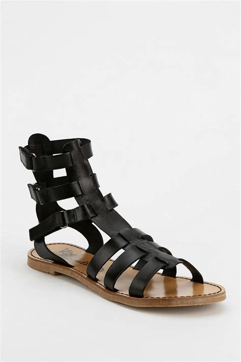 caged sandal outfitters caged sandal in black for lyst